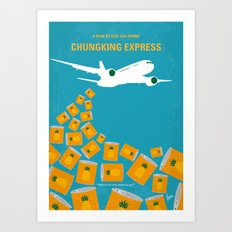 No835 My Chungking Express minimal movie poster Art Print