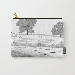 wet country scene Carry-All Pouch