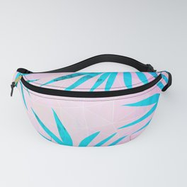 Refreshing Geometric Palm Tree Leaves Tropical Chill Design Fanny Pack