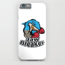 "Know Someone That Is A Shark Fan? Here's A Shark Tee Saying ""Jaw Breaker"" Sea Creatures Boxing iPhone Case"