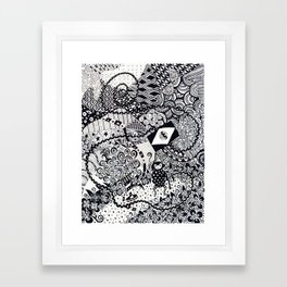 The Monkey with a Very Long Tail Framed Art Print