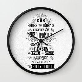 Lab No. 4 The Sun Shines Ralph Waldo Emerson Inspirational Quote Wall Clock
