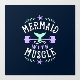 Mermaid With Muscle Canvas Print