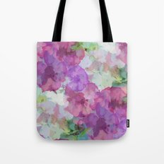 Sweet Peas Floral Abstract Tote Bag