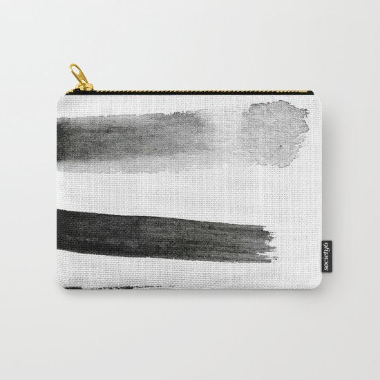 MONOCHROME TEXTURE STROKES Carry-All Pouch