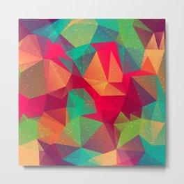 Abstract Polygonal Pattern 13 Metal Print