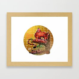 Chines Tiger Horoscope Framed Art Print