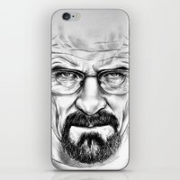 walter white iPhone & iPod Skins featuring Walter White by 13 Styx
