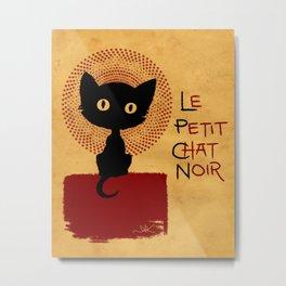 Le Petit Chat Noir Metal Print
