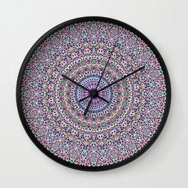Pastel Jungle Garden Mandala Wall Clock