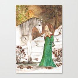 Yule Blessings Canvas Print