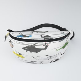 Multiple Helicopters Fanny Pack
