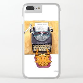The Great Catsby. Clear iPhone Case