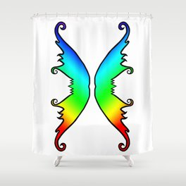 Fairy Wings Rainbow Shower Curtain