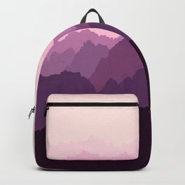 Mountains in Pink Fog Backpack