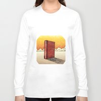 literature Long Sleeve T-shirts featuring Literature Heavy book by gunberk