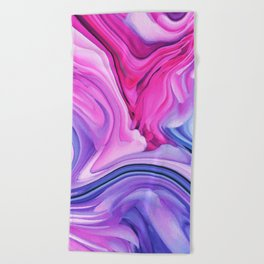 Marble Pastel / Melting Marble Beach Towel