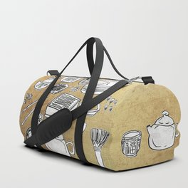 Chinese Tea Doodle 1 Duffle Bag