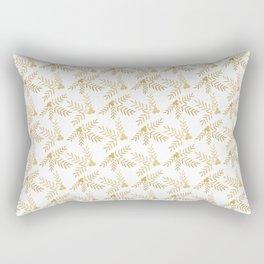 Joyful Holiday in Gold Rectangular Pillow