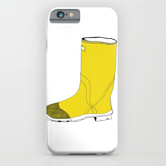 My favorite yellow boot iPhone & iPod Case