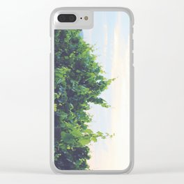 Dusty Vineyard Clear iPhone Case