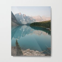 Pastel Sunrise over Moraine Lake Metal Print