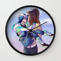 dmmd Wall Clocks featuring Mink & Aoba by mishybelle