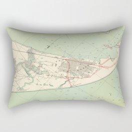 Vintage Map of Galveston TX Fortifications (1895) Rectangular Pillow