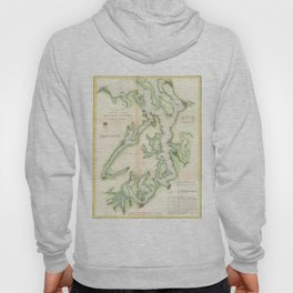 Vintage Map of The Puget Sound (1867) Hoody
