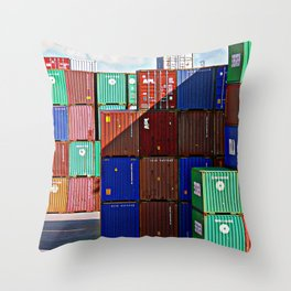Colorful containers II Throw Pillow