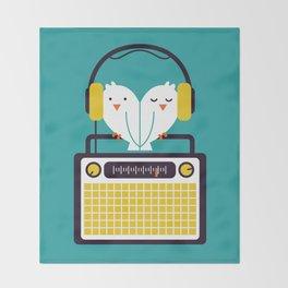 Radio Mode Love Throw Blanket