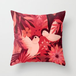 Birds in love Throw Pillow