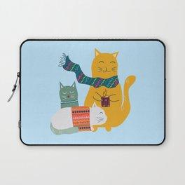Cat cuddle -Hand Draw Laptop Sleeve