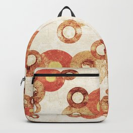 The past age of vinyl records. Backpack