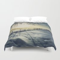 rowing Duvet Covers featuring Winter you winter me by HappyMelvin