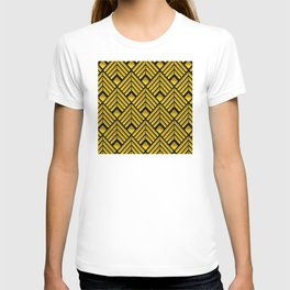 Exotic Art Deco Pattern: The Mademoiselle Is Incognito T-shirt
