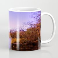 central park Mugs featuring Central Park by Anna Andretta