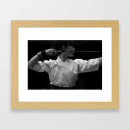 Kyudo - The Japanese archery Framed Art Print