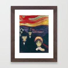 Anxiety by Edvard Munch Framed Art Print