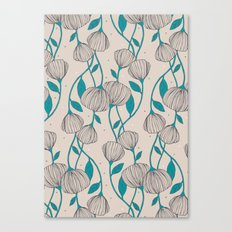 Blue Stem Flowers Canvas Print