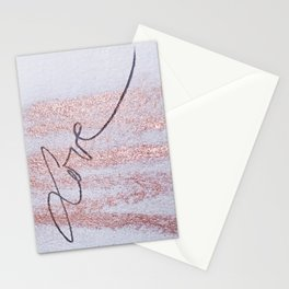 Rose Gold Love Stationery Cards