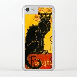Le Chat Noir The Black Cat Art Nouveau Clear iPhone Case