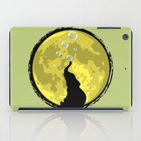 onesie iPad Cases featuring Elephant bubbly in the moonlight by kamonkey