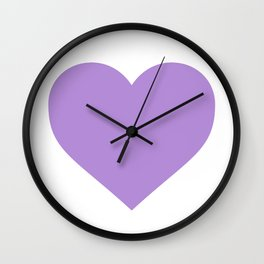 Heart (Lavender & White) Wall Clock