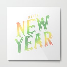 Happy new year III Metal Print
