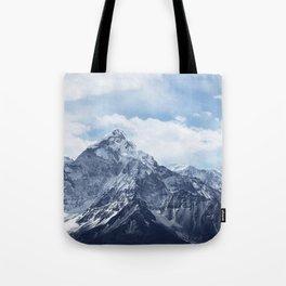 Snowy Mountain Peaks Tote Bag