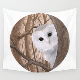 curious owl Wall Tapestry