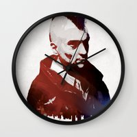 taxi driver Wall Clocks featuring Taxi Driver by Mahdi Chowdhury