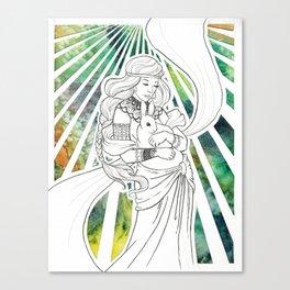 Timid Heart Canvas Print