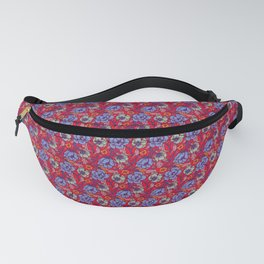 Red and blue Fanny Pack
